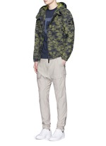 'DPM Jacquard Plated' camouflage print hooded jacket