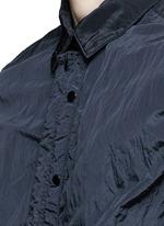 'Nylon Metal' crinkled zip shirt jacket