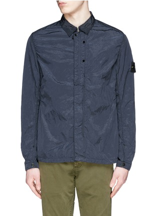 首图 - 点击放大 - STONE ISLAND - 皱褶感尼龙衬衫式外套