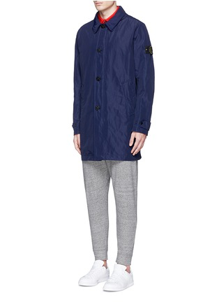 Front View - Click To Enlarge - Stone Island - 'Micro Reps' hood coat