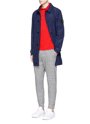 Figure View - Click To Enlarge - Stone Island - 'Micro Reps' hood coat