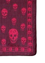 Classic skull silk scarf