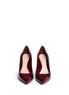 ALEXANDER MCQUEEN Polished patent leather pumps
