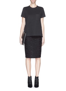 GIVENCHYBonded lace pencil skirt