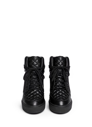 Figure View - Click To Enlarge - Ash - 'Azimut' textured leather high top wedge sneakers