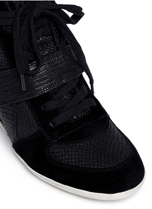 Detail View - Click To Enlarge - Ash - 'Bowie' suede leather high top wedge sneakers