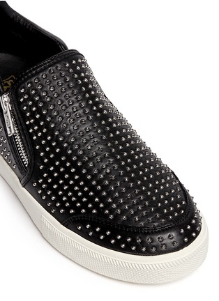 Detail View - Click To Enlarge - Ash - 'Iman' stud leather skate slip-ons