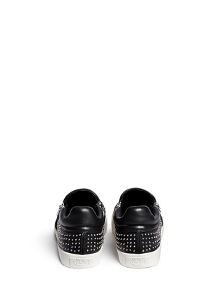 Back View - Click To Enlarge - Ash - 'Iman' stud leather skate slip-ons