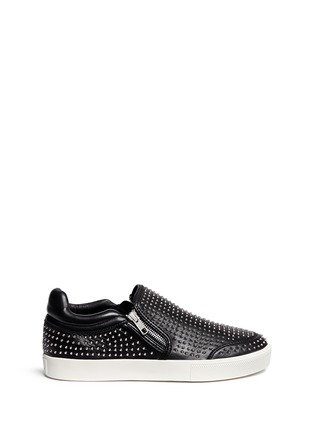 Main View - Click To Enlarge - Ash - 'Iman' stud leather skate slip-ons