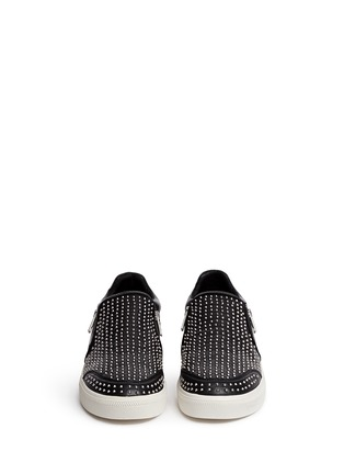 Figure View - Click To Enlarge - Ash - 'Iman' stud leather skate slip-ons