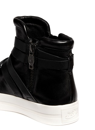 Detail View - Click To Enlarge - Ash - 'Jet' cross strap leather platform sneakers