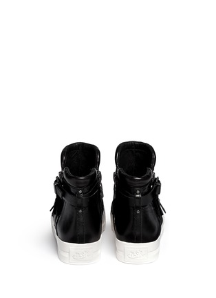 Back View - Click To Enlarge - Ash - 'Jet' cross strap leather platform sneakers