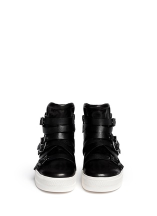 Figure View - Click To Enlarge - Ash - 'Jet' cross strap leather platform sneakers