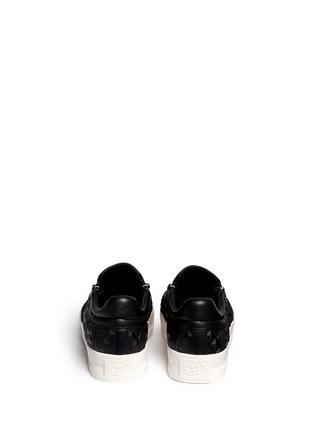 Back View - Click To Enlarge - Ash - 'Jig' embossed leather platform skate slip-ons