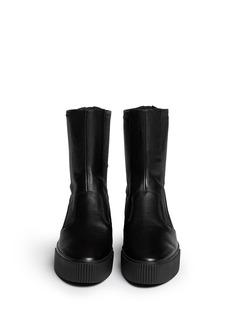 ASH'Kick' contrast leather zip boots