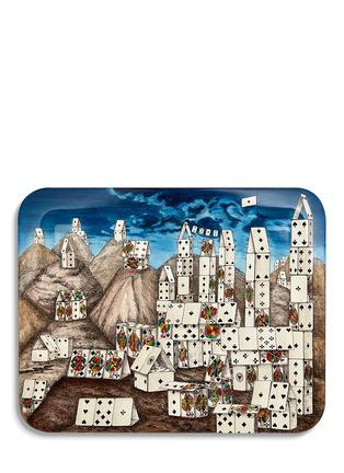 首图 –点击放大 - FORNASETTI - Città di Carte山脉纸牌图案漆木托盘