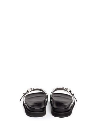 背面 - 点击放大 - ALEXANDER MCQUEEN - Metal bridge colourblock leather sandals