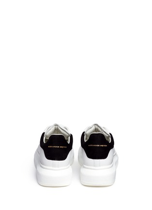 Back View - Click To Enlarge - Alexander McQueen - Chunky outsole suede trim leather sneakers