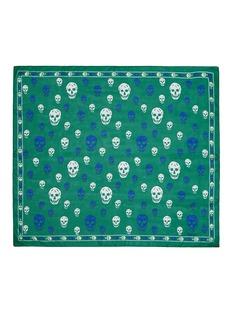 ALEXANDER MCQUEENClassic bicolour skull silk scarf