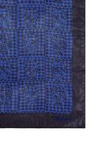 Skull houndstooth check print silk chiffon scarf