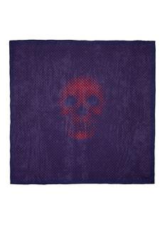 ALEXANDER MCQUEENGraduated dot skull silk chiffon scarf