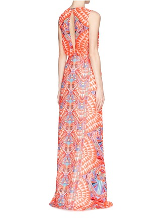 Front View - Click To Enlarge -  - Cosmic Fountain keyhole back maxi dress