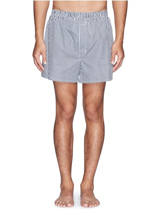 Main View - Click To Enlarge - Sunspel - Mini gingham check boxer shorts