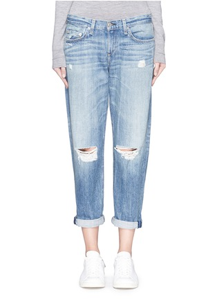 Detail View - Click To Enlarge - rag & bone/JEAN - Distressed boyfriend jeans