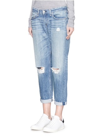 Front View - Click To Enlarge - rag & bone/JEAN - Distressed boyfriend jeans