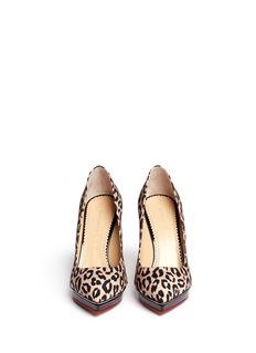 CHARLOTTE OLYMPIADebbie leopard print platform pumps