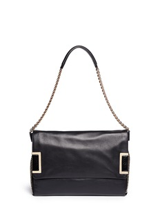 JIMMY CHOO 'Ally' chain strap stud leather bag