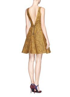 ALICE + OLIVIA'Delery' paisley print flare dress