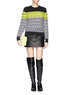 ALEXANDER WANG Paisley jacquard mini leather skirt