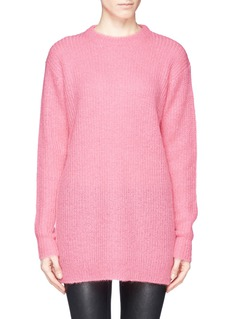 T BY ALEXANDER WANG Rib knit tunic sweater