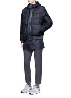 NanamicaReversible KODENSHI® Down puffer NA-1 bomber jacket