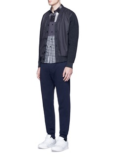 Nanamica Tech fabric front THERMOLITE® wool cardigan