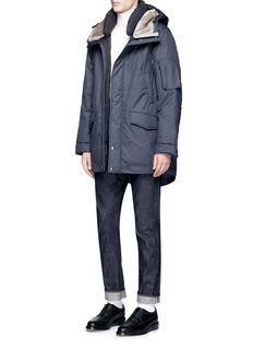 NanamicaFaux fur hood KODENSHI® Down puffer coat
