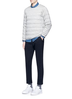 NanamicaKODENSHI® down puffer wool sweatshirt