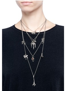 Valentino Mixed pendant tier necklace