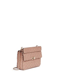 Valentino 'Rockstud Spike' medium quilted leather crossbody bag