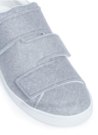 Detail View - Click To Enlarge - Acne Studios - 'Triple Felt' crisscross strap sneakers
