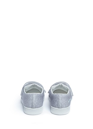 Back View - Click To Enlarge - Acne Studios - 'Triple Felt' crisscross strap sneakers