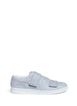 Main View - Click To Enlarge - Acne Studios - 'Triple Felt' crisscross strap sneakers