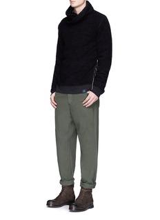 Scotch & SodaTwisted collar fleece jersey sweater