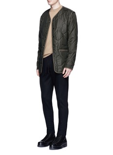 Scotch & Soda Pleated wool blend jogging pants