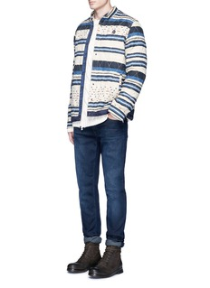 Scotch & Soda 'Nordic' stripe quilted shirt jacket