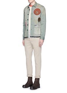 Scotch & SodaPatch paint spot shirt jacket
