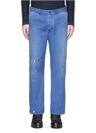 Main View - Click To Enlarge - Scotch & Soda - Paint splatter worker pants