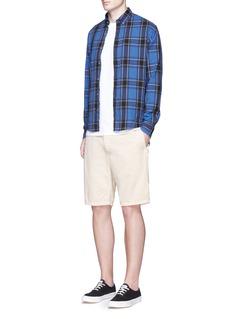 Scotch & SodaTartan plaid cotton flannel shirt