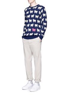 Scotch & SodaSheep intarsia wool-blend sweater